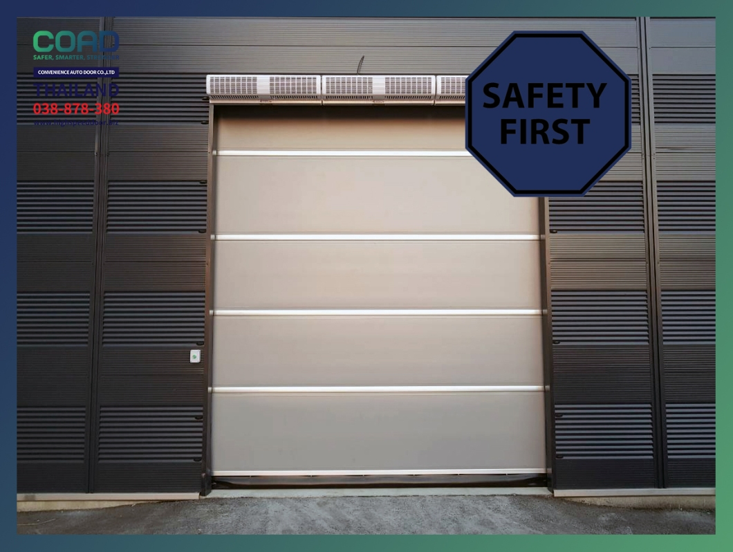 Safety first COAD industriral door