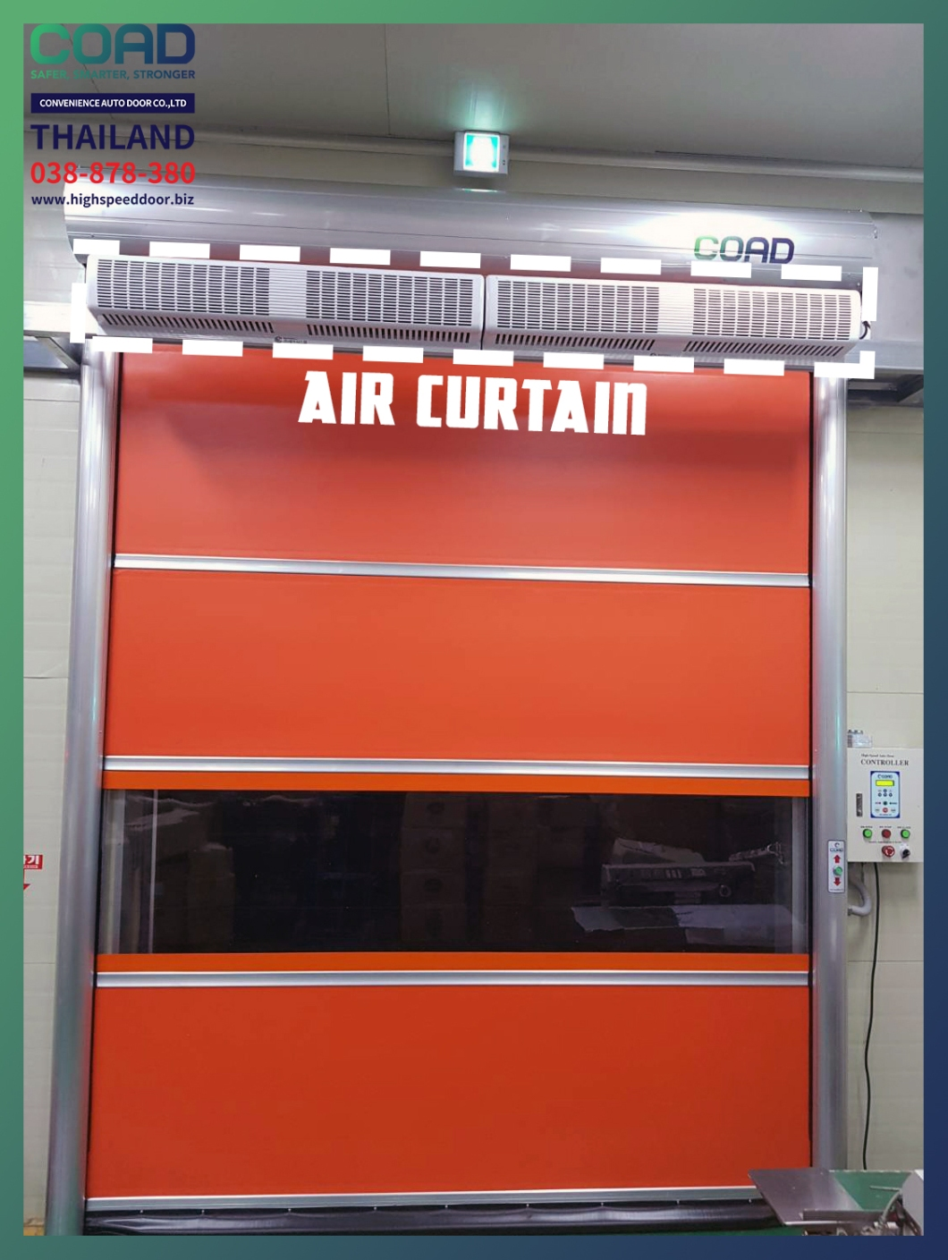 Speed door with air-curtain