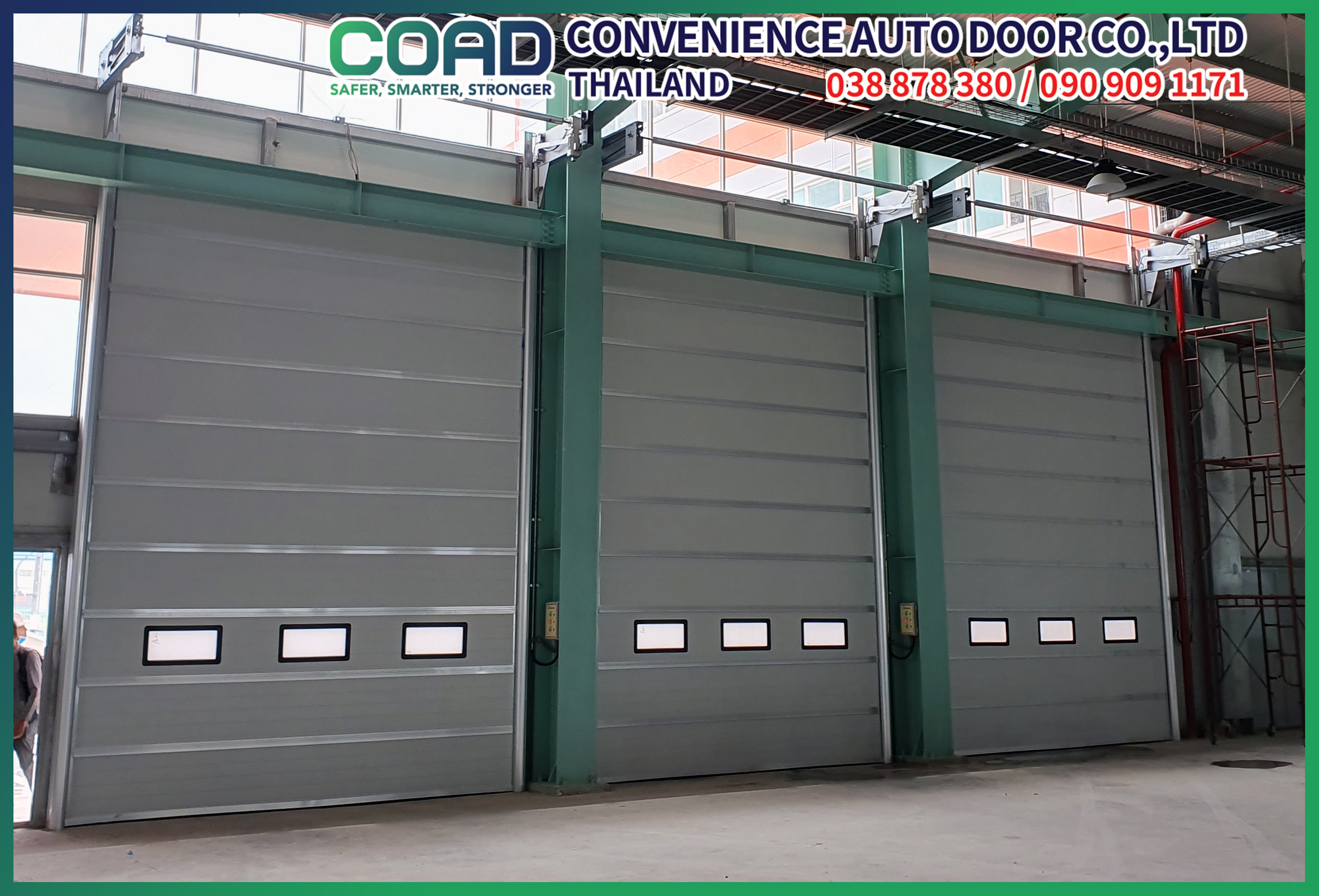 Factory stacking door at entrance